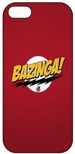 The Big Bang Theory BAZINGA! Plastic Hard Cover Case for iphone 4/4s/5/5s/5c/6/6s/6plus/6s plus/7/7PLUS
