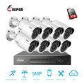 5MP AHD 8CH Cctv-systeem 1944 p HDMI DVR 5.0MP 2560*1944 p Outdoor Weerbestendige CCTV Camera Home Security systeem Surveillance Kit