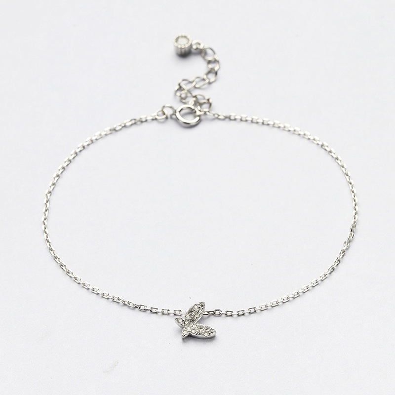 B99 pour kim client envoyer avec sac sur 17 cm 925 argent papillon forme pour jeunes femmes cadeau et peut être cadeau d'anniversaire