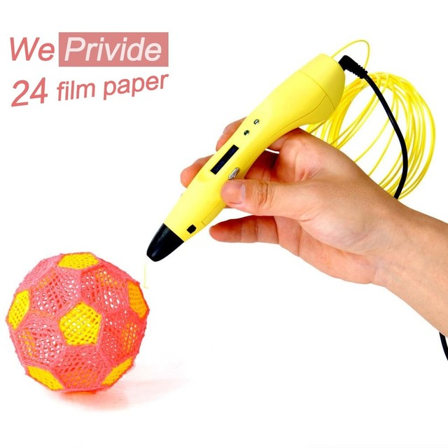 Creative 1.75mm ABS/PLA DIY 3D Printing Pen LED/LCD Screen Smart 3D Pen Painting Pen Handle Gift Toys For Kids Drawing Design