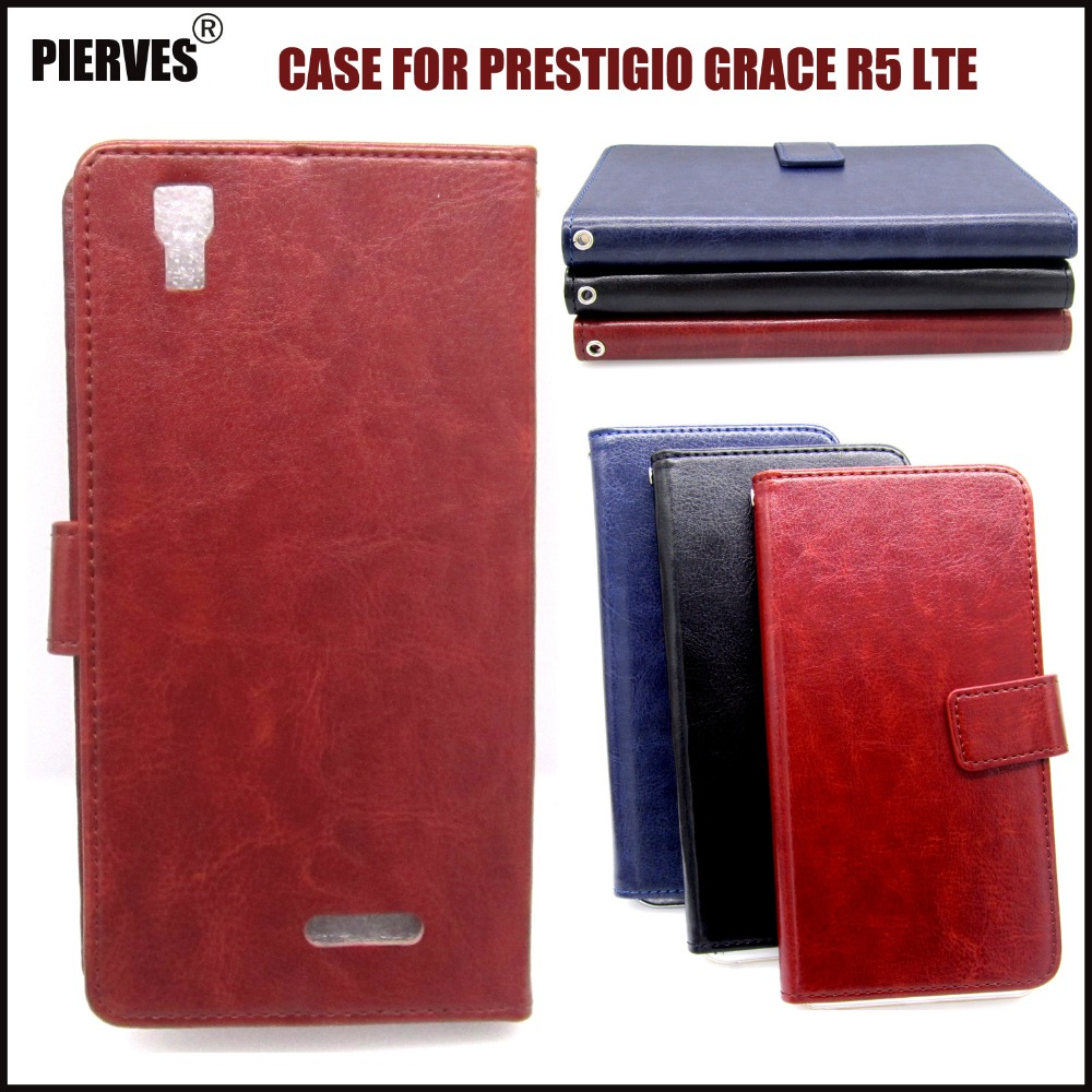 Casteel Classic Flight Series high quality PU skin leather case For Prestigio Grace R5 LTE <font><b>PSP5552DUO</b></font> Case Cover Shield image