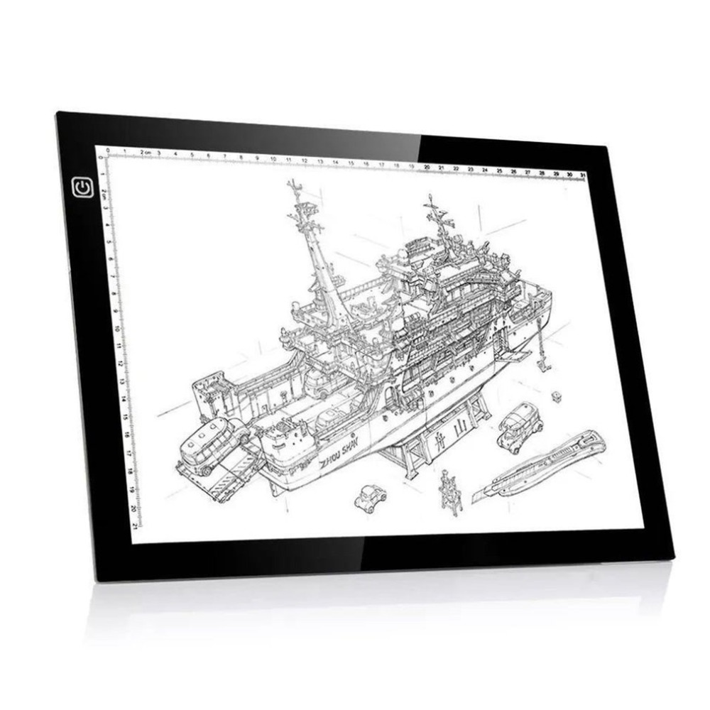 Ultra-delgada A4 LED pintura Tracing copia Pad Tablet dibujo arte artesanía Stencil para artista dibujante