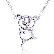 лучшая цена 18K Gold Hollow Pig Pendant Necklace Long 0 Chain Necklace Jewelry Wedding Necklace Accessories White Yellow Rose Gold 0.51g