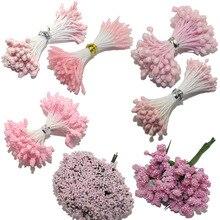 CCINEE светильник розовый цветной цветок тычинки розы 1 мм/3 мм/5 мм для украшения торта/ремесла/нейлон цветок DIY подарок аксессуары