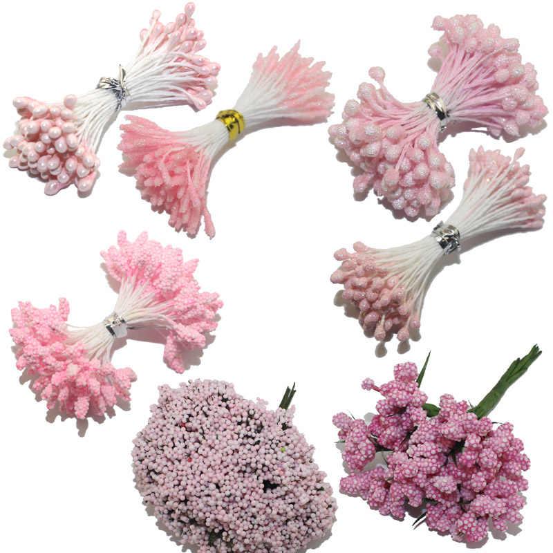 CCINEE couleur Rose clair fleur Rose étamine 1mm/3mm/5mm pour décoration de gâteau/artisanat/Nylon fleur bricolage accessoires cadeaux