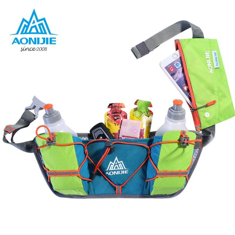 Bolsa da Cintura Garrafas de Água Titular com 250ml Aonijie Maratona Jogging Ciclismo Correndo Hidratação Cinto Bolsa Fanny Pacote Telefone E888