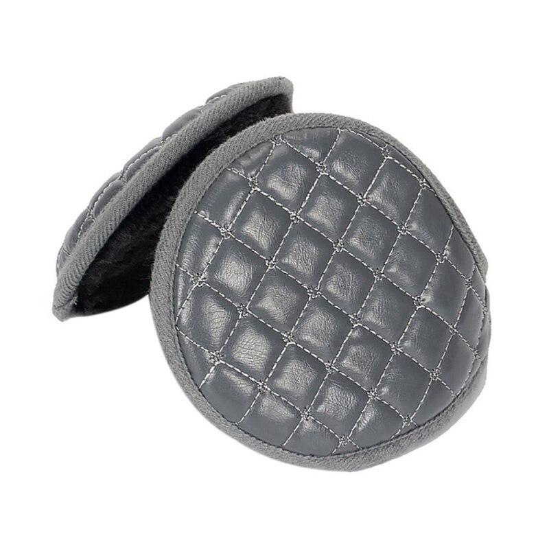 1PCS Winter Earmuffs Adult Women Men Leather Adjustable Portable Warm Ear Outdoor Winter Earmuffs