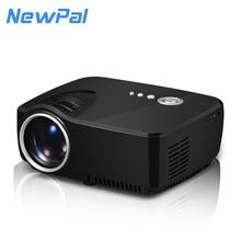 Portátil mini led projetor 1200 lumens com sintonizador de TV, suporte 1080 P para home theater por duplo HDMI