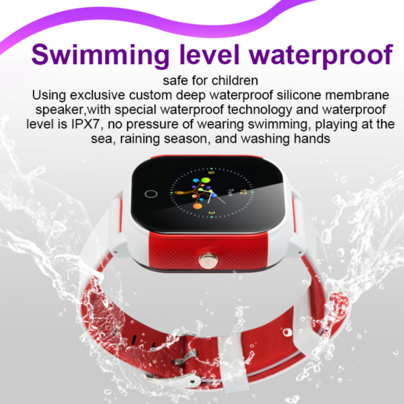 Image 3 - FA23 Smart Baby Watch IP67 Waterproof Children SIM Card Touch Screen GPS WIFI SOS Tracker Kids Alarm Clock Anti Lost Smartwatch-in Smart Watches from Consumer Electronics