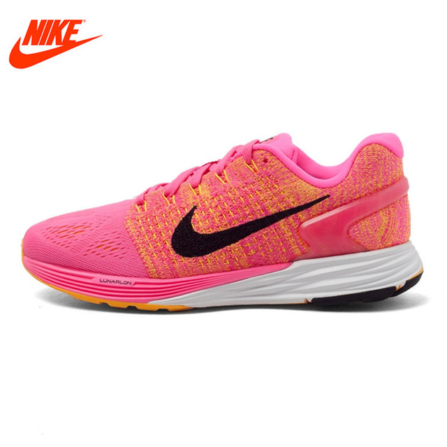 8b2e645945c2d Original NIKE Summer Breathable WMNS NIKE LUNARGLIDE 7 Women s Running  Shoes Sneakers Outdoor Walking Jogging Ladies Athletic