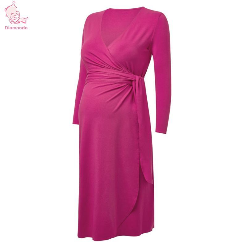 Maternity Photography Maternity Props Silk Cotton Vestidos V-Neck Dresses Maxi Pregnant Dress Pregnancy Photo Shoot Props