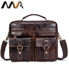 MVA Genuine Leather Men Bag Business Briefcase Messenger Handbags Men Crossbody Bags Men's Travel Laptop Bag Shoulder Tote Bags(China)