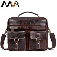 MVA Men Messenger Túi Nam Chính Hãng Leather Bag Briefcase Men Men của Vai Da Túi Máy Tính Xách Tay Crossbody Túi Xách Tote 801