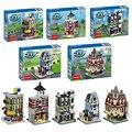 Decool 5 set/lote Mini Calle lCity Set bloques de Construcción Ladrillos Bloques de Juguete de Regalo Juguetes para niños Compatibles con Lepin CREADOR