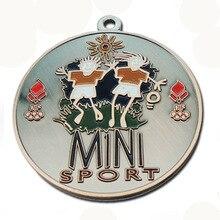Wholesale custom sports medal irregular shape circus theme double hole