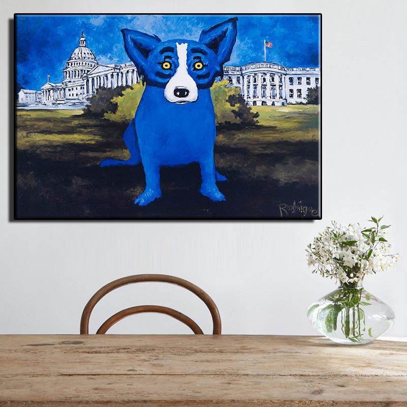 Modern, Art, Elements, Style, Oil, Dog