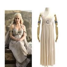 купить Daenerys Targaryen Dress Game Of Thrones Cosplay Costume Women Dance Party Stage Performance Halloween Christmas Costumes по цене 3191.7 рублей