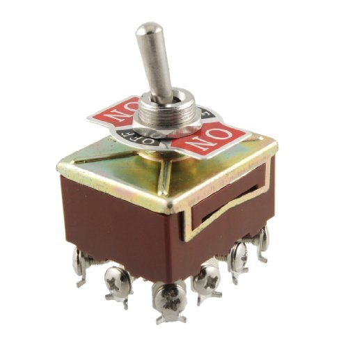 403 Screw Terminals On/Off/On 4PDT Toggle Switch, AC 15 Amp/250V 10 Amp/380V image
