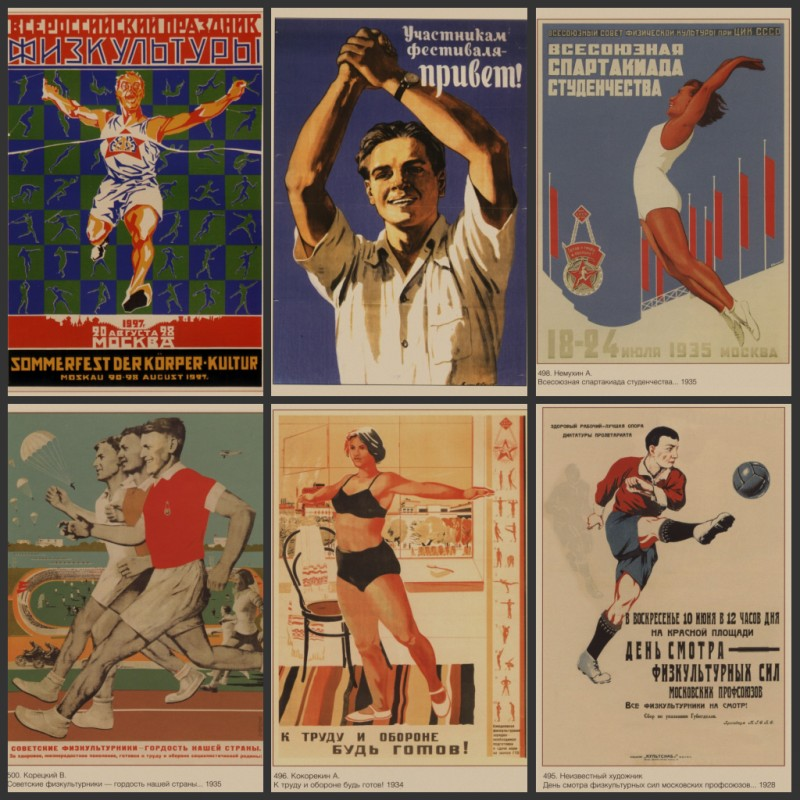 Home decoration posters, Soviet cultural sports posters, store school decorative wall st ...