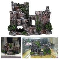 Resin Craft Ancient Castle Aquarium Decoration European Style Castle Decorative Fish Tank Landscaping Rock Ornaments