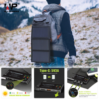 ALLPOWERS Phone Charger 5V 15W Solar Battery Charger Dual USB and Type C 5V 3A(Max.) Outdoors Solar Powered Charger.