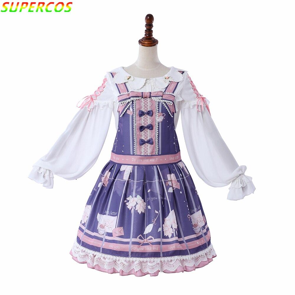 Nouvelles Arrivées! Haute Qualité! Coton classique belle magie Alice imprimer Lolita JSK robe pour Art Photo Cosplay Costume