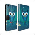 Green Owl Pattern Leather Case for Samsung Galaxy Tab 3 8.0 P8200 T3100