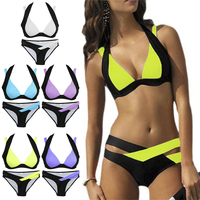 2017 New Hot Sale Sexy Women Bikini Set Bandage Push Up Padded Swimwear Hollow Out Swimsuit