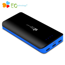 EC Technology Power Bank External Battery Pack 3 USB Portable Powerbank 20000mah Backpack Battery Charger