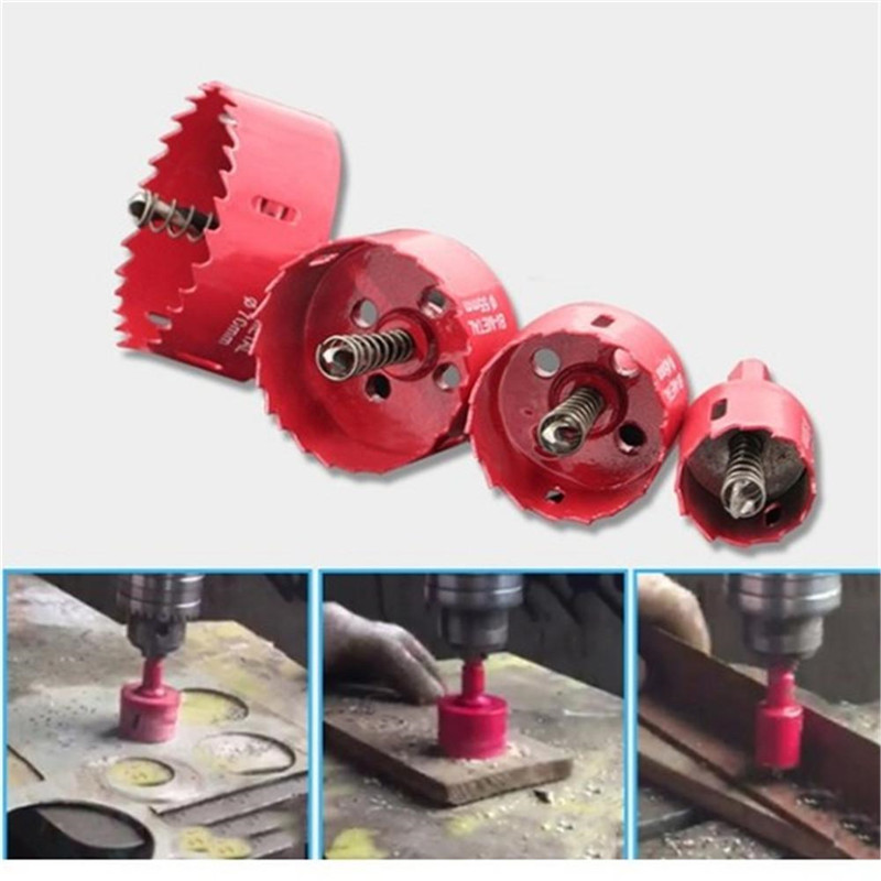 18 Style Of Sizes 17mm-45mm BI High Speed Metal M42 HSS Hole Saw Cutter Core Drill Bit Set Tools For Aluminum Iron Wood