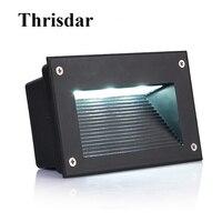 Thrisdar 10 шт 3 W 5 W открытый светодиодная лампочка для подножки IP65 в алюминиевой оправе угловая настенная лампа Встраиваемые светодиодная Нижня