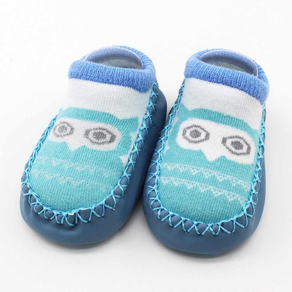 TELOTUNY nouveau-né mignon cartton bébé anti-dérapant chaussettes de sol bébé filles garçons anti-dérapant chaussettes chaussures pantoufles bottes Z1019