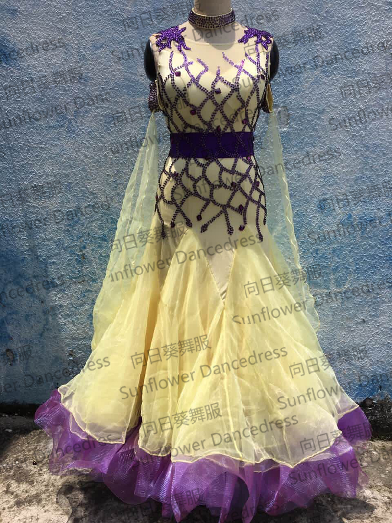 New Competition Ballroom Standard Dance Dress,dance Clothing,stage Wear,ballom Dance Wear,Waltz,Ballroom Dance Dress