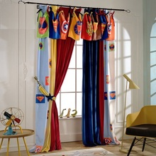 Custom Made Creative Cartoon Super Hero Curtain Soft lint Cloth Blackout Curtain for Kids Bedroom Fashion