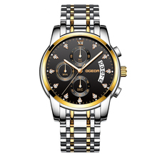 Men Watch Chronograph Sport Mens Watches Top Brand Luxury 30M Waterproof Full Steel Quartz Gold Clock Men Relogio Masculino 2019 цена и фото