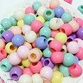 500 mezcla de colores Pastel acrílico redondo Pony cuentas 6X4mm para niños manualidades Kandi pulsera de semillas de cuentas de vidrio