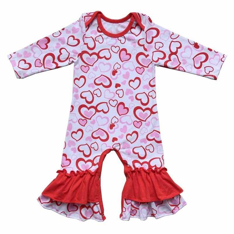 70c8880b4bb9 Valentines Day Baby Girls Romper Infant Jumpsuit Newborn Clothing Baby  Costume Romper Baby Clothes