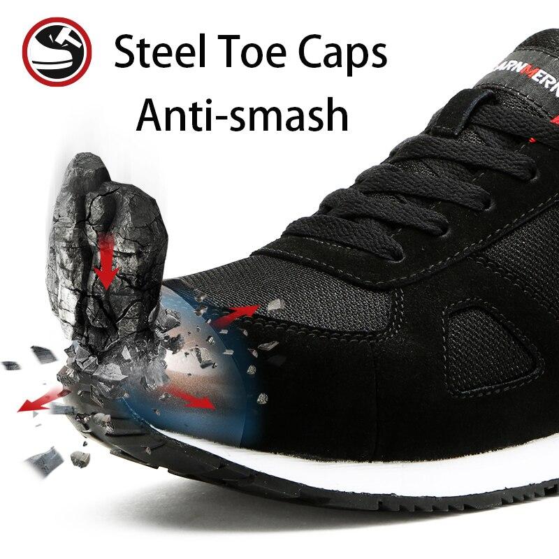 Modyf メンズファッション安全靴鋼トーキャップワークブーツ建設作業靴  グループ上の セキュリティ & プロテクション からの 安全靴ブーツ の中 2
