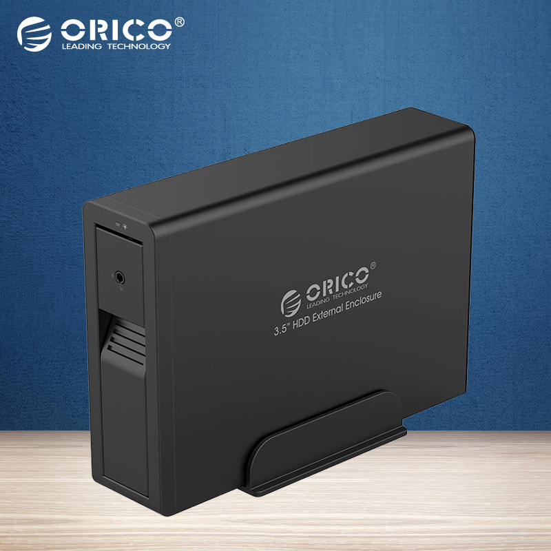 ORICO 7618US3 3.5 HDD External Enclosure 3.5 SATA Support Tool Free/Hot-swap/Intelligent sleep-Black(Not including HDD)