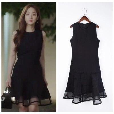 цена Christmas 4sizes Large Black Lace Whats Wrong With Secretary Kim Same Dress Pregnant Maternity woman TV Korean Drama онлайн в 2017 году