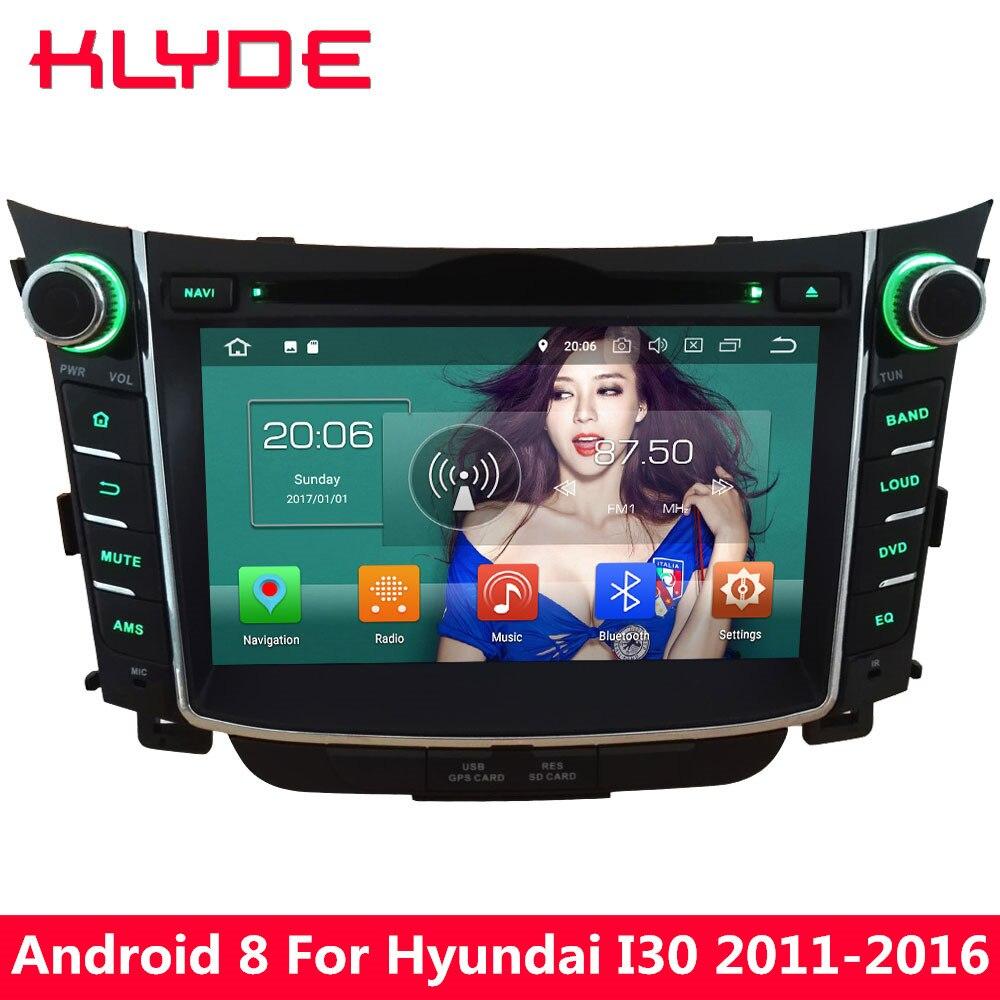KLYDE 7 ''Octa Core 4 ГБ Оперативная память Android 8,0 32 ГБ Встроенная память PX5 4 г DVD мультимедиа плеер для hyundai I30 2011 2012 2013 2014 2015 2016