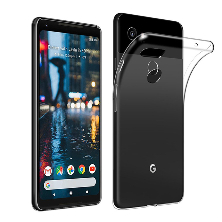 For Google Pixel 3 /3 XL Case Slim Clear Transparent Cover Soft Gel TPU Silicone Flexible Mobile Phone Protective Shell