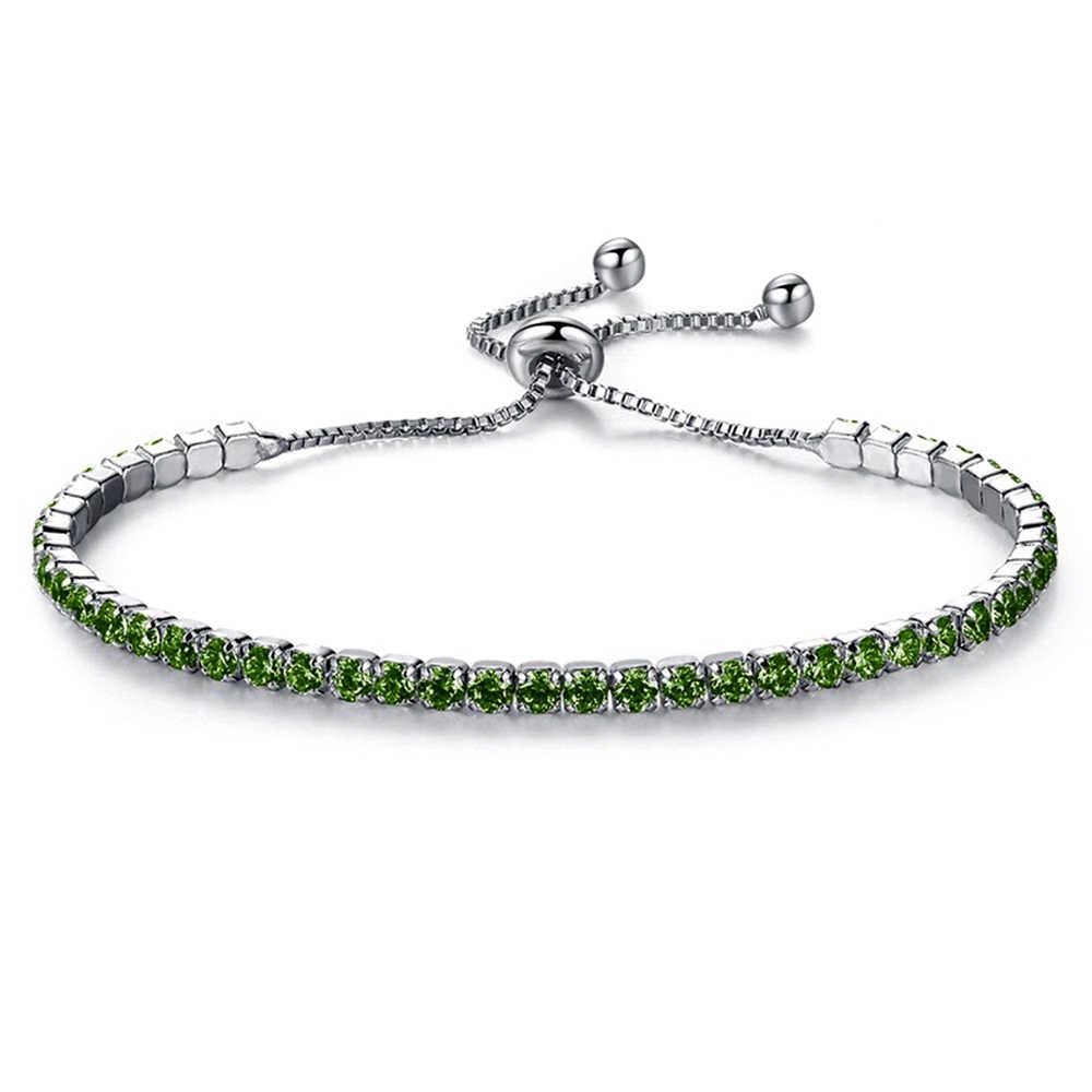 Dropship di Modo Cubic Zirconia Tennis Bracelet & Bangle Regolabile Pulseras Mujer di Fascino Del Braccialetto di Marca Per Le Donne Regali di Nozze