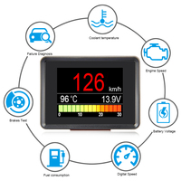 A203 OBD Speedometer Fuel Computer Display Consumption meter Temperature Gauge Automobile On board Computer Car Digital OBD2