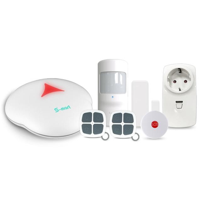 Best Price 433mhz WiFi home wireless security alarm system & smart home WiFi PSTN security anti-burglar alarm system with smart socket