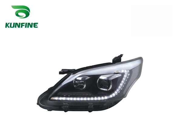 Pair of Car Headlight Assembly For Toyota innova 2012-UP Tuning Headlight Lamp with Bi-xenon Project Lens Daytime Running light right combination headlight assembly for lifan s4121200