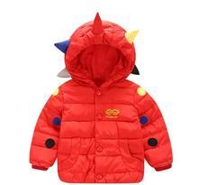 2016 Cute Baby Boy Warm Clothes Kids Long Sleeve Hooded Embroidered Cartoon Jacket Children Outerwear Coat Menino Menino
