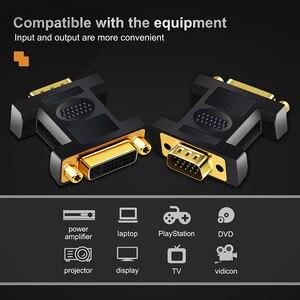 Image 5 - Cabletime DVI لمحول VGA VGA ذكر إلى DVI 24 + 5 دبوس أنثى محول 1080 مطلية بالذهب DVI محول للكمبيوتر المحمول N178