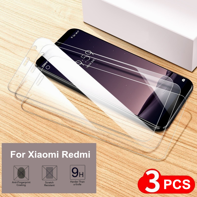 3 PCS Tempered Glass For Xiaomi Redmi 6 6A 7 7A 5 K20 Pro Global Version 9H Cover Film For Redmi Note 5 6 7 Pro Screen Protector