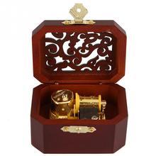 Музыкальная шкатулка Ретро деревянная Выгравированная часовчасовая восьмиугольная музыкальная шкатулка для семьи и друзей подарок на день рождения